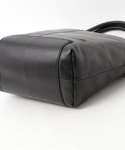 Shion シオン ヌメレザー縦型前ポケット3WAYバッグ