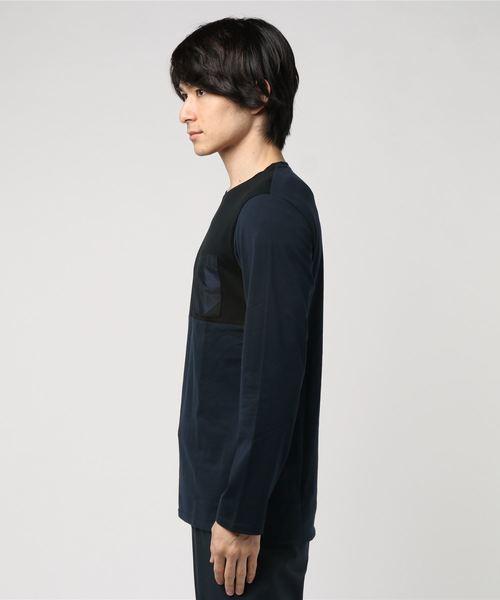 カラーブロックロングTシャツ