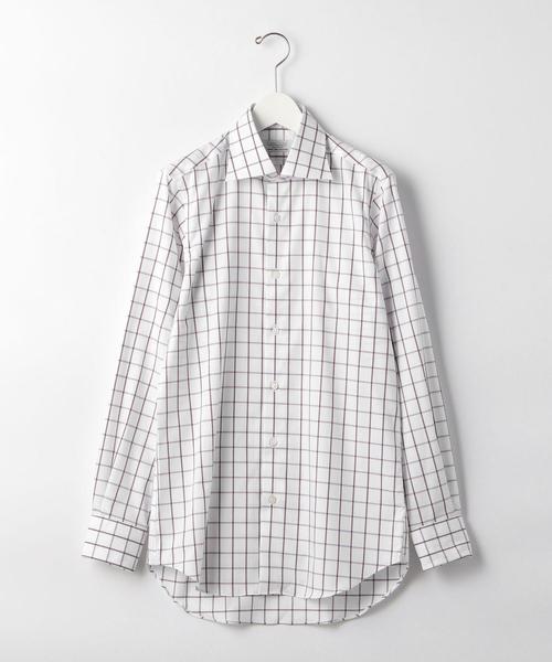 [カンクリーニ] E/I CANCLINI チェック ワイド ドレスシャツ<機能性 / イージーアイロン>