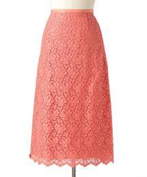 Drawer フラワーレースタイトスカート