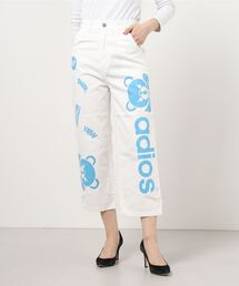 ADIOS BEAR 8分丈ワイドパンツホワイト