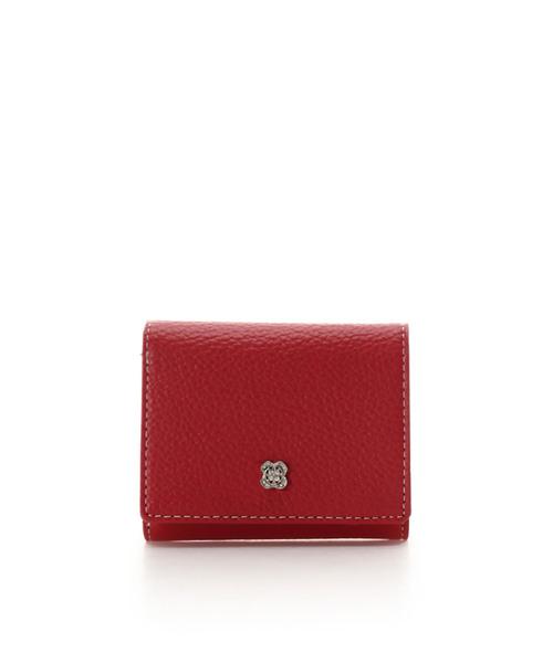 Samantha Thavasa Deluxe(サマンサタバサ デラックス)の「フラワービジュー 三つ折り財布(財布)」|レッド