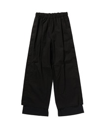 SPRING2020 LAYERED WIDE EASY PANTSブラック
