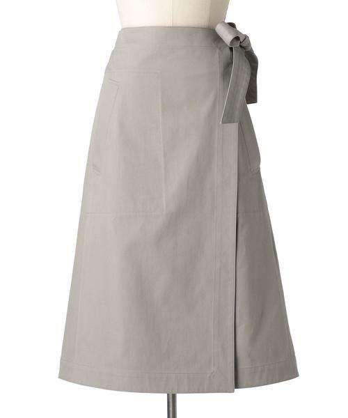 Drawer コットンサイドベルトラップスカート