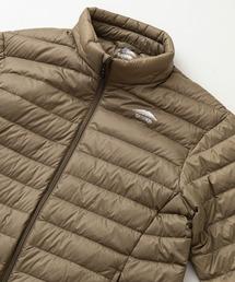 軽量ダウン スタンドライトジャケット 撥水透湿防風ポケッタブル(パッカブル)700フィルパワーオリーブ