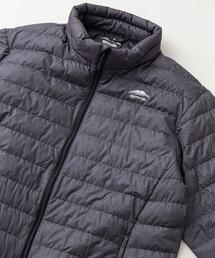軽量ダウン スタンドライトジャケット 撥水透湿防風ポケッタブル(パッカブル)700フィルパワーチャコールグレー