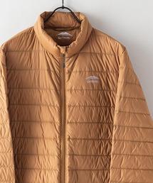 軽量ダウン スタンドライトジャケット 撥水透湿防風ポケッタブル(パッカブル)700フィルパワーダークベージュ