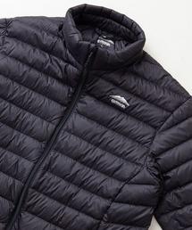 軽量ダウン スタンドライトジャケット 撥水透湿防風ポケッタブル(パッカブル)700フィルパワーブラック