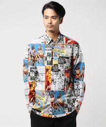 MAGAZINE CHECK総柄 レギュラーシャツ