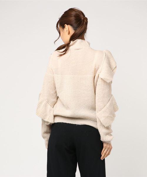 RS slantingfrill knit