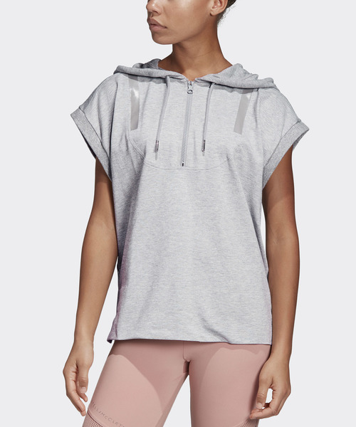 [adidas by Stella McCartney] who 데드 T셔츠 [HOODED TEE]