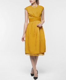 a3a8a6f8276b3 ドレス・ワンピース(ドレス・ワンピース)の「裾レースペチコート付きタックフレア
