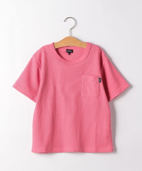 ◆【ジュニア】〔吸水速乾〕ドライワッフルポケットTシャツ