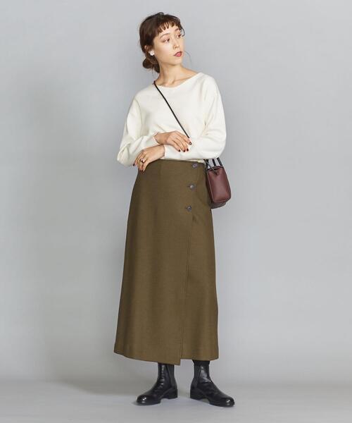 BY フロントボタンラップスカート