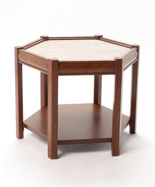 《中型商品》BROOKS HEXAGON TABLE_lino(GRY) ブルックスヘキサゴンテーブル