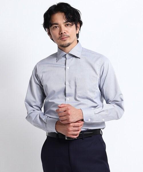 七宝紋柄シャツ