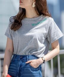 2サイズシンプルプリントTシャツ