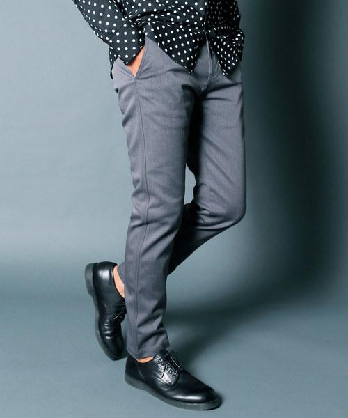 Dickies(ディッキーズ)の「Dickies EXCLUSIVE SKINNY CHINO PANTS:ディッキーズ 別注スキニーチノパンツ(チノパンツ)」|グレー