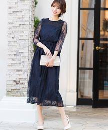 ドレス(ブルー・ネイビー/青色系)ファッション通販 , ZOZOTOWN