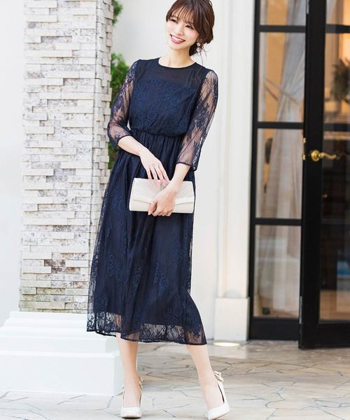 bc72661cc7c51 Fashion Letter(ファッションレター)の総レースロングワンピース(ドレス)