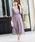 Fashion Letter(ファッションレター)の「総レースロングレーススカート 結婚式ワンピース パーティードレス(ドレス)」 ダークラベンダー