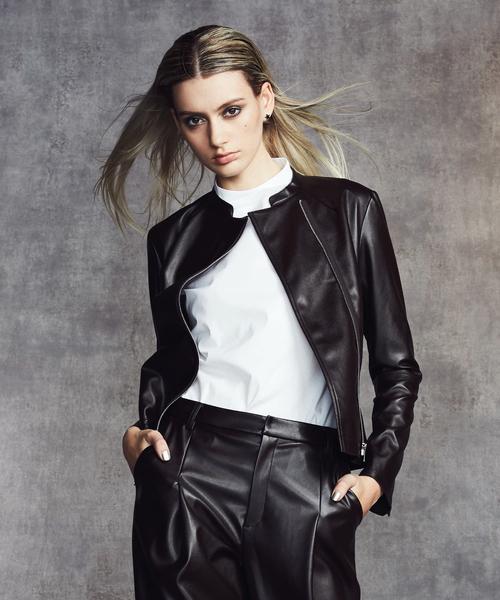 好評 【セール クロージング,Sov.】Sov. Fake CLOTHING,ダブル Fake Leatherジャケット(ノーカラージャケット)|DOUBLE STANDARD CLOTHING(ダブルスタンダードクロージング)のファッション通販, 城山町:200a77a6 --- 5613dcaibao.eu.org
