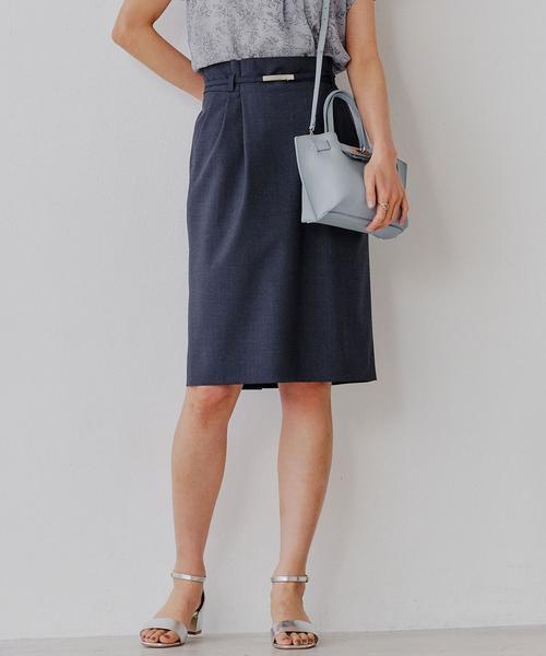 [手洗い可能/ライトカチリラ] ◆D ベルト スカート ◇No18◇