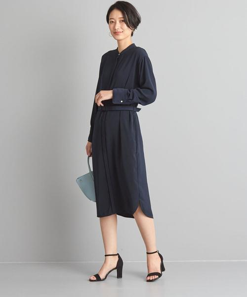 【WORK TRIP OUTFITS】★WTO Pデシン スタンド シャツワンピース