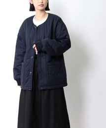 【 MONT KEMMEL / モンケメル 】QUILTED LINNER キルティングジャケットネイビー