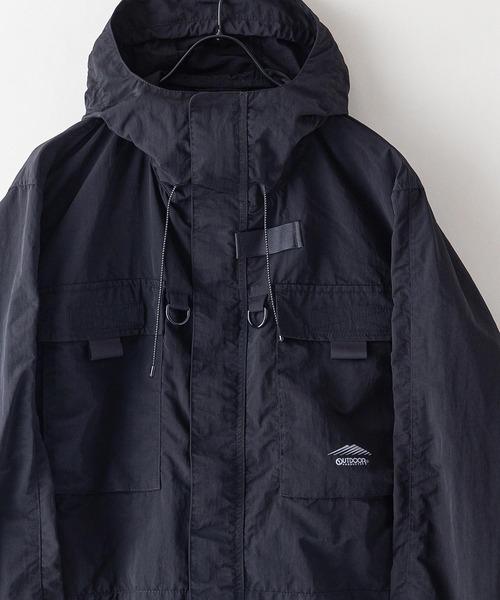 撥水フィッシングジャケット ワンポイントブランドロゴ