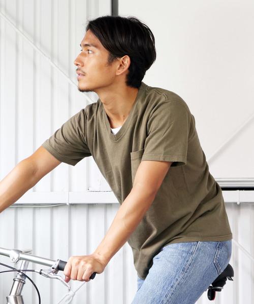 【Goodwear/ グッドウェア】スリムフィットVネック半袖Tシャツ