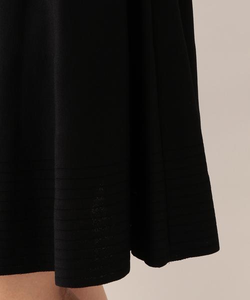 フラワーレースコンビニットドレス