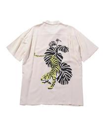 <DOUBLE RAINBOUU> WHITE TIGER SS SHT/シャツ