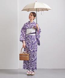<竺仙(ちくせん)> 萩桔梗に撫子 紅梅 浴衣
