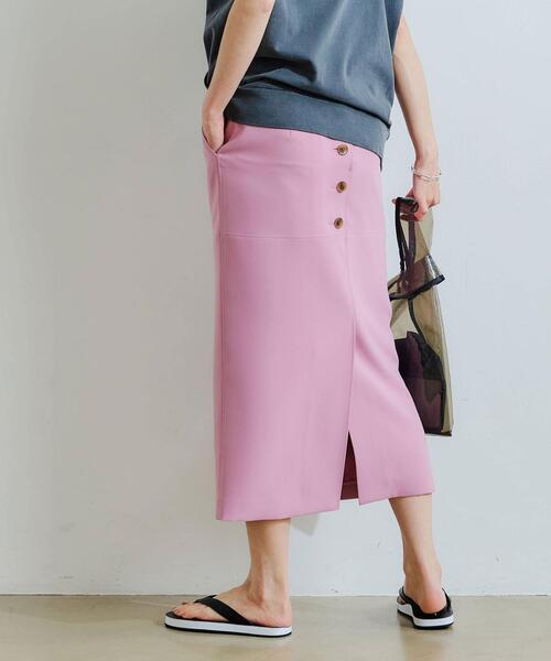 FFC アムンゼン バック ボタン Iライン スカート