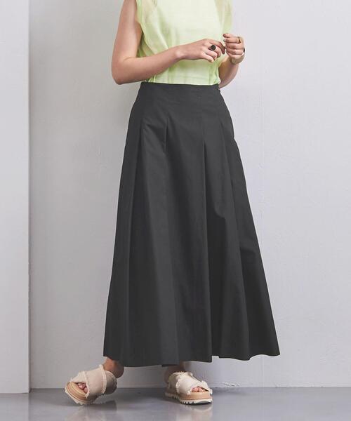 UWSC C カラー タックフレア スカート