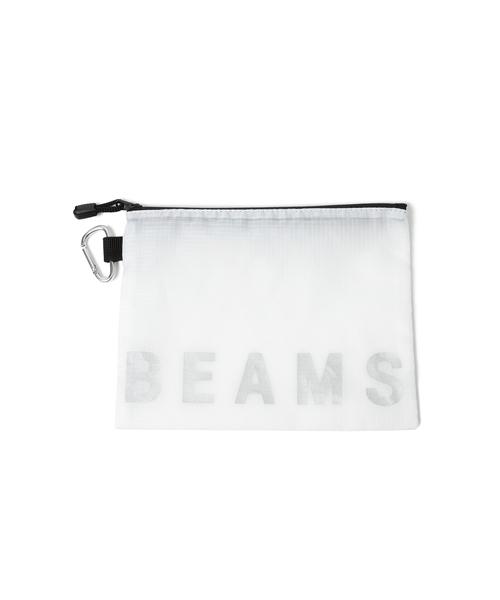 bpr BEAMS(ビーピーアール ビームス )の「BEAMS / ナイロンポーチ M(ポーチ)」 ホワイト