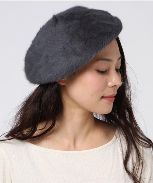 koe(コエ)の「シャギーベレー(ハンチング/ベレー帽)」|グレー