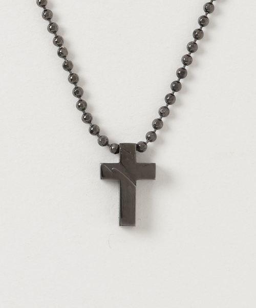 kiryuyrik(キリュウキリュウ)の「CrossChoker(ネックレス)」|ブラック