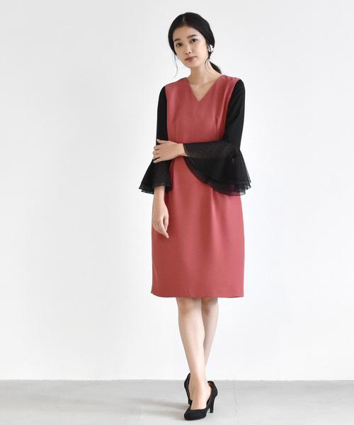 手数料安い ドットフレアスリーブワンピース(ドレス)|kaene(カエン)のファッション通販, eLady:1fff6f51 --- 5613dcaibao.eu.org