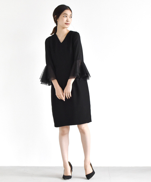 超格安一点 ドットフレアスリーブワンピース(ドレス)|kaene(カエン)のファッション通販, 佐伯市:ef6257f2 --- fahrservice-fischer.de
