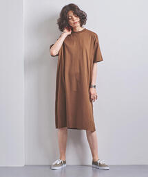 <STYLE for LIVING> スリット Tシャツワンピース†