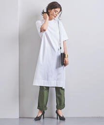 <STYLE for LIVING> スリット Tシャツワンピース†◆