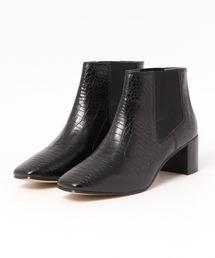 VANILLA MOON(バニラムーン)の(VANILLA MOON)スクエアトゥ型押しサイドゴアブーツ(ブーツ)