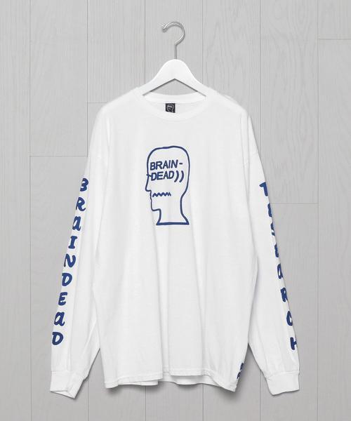 <BRAIN DEAD>VEHICLE LONG SLEEVE T-SHIRT/Tシャツ