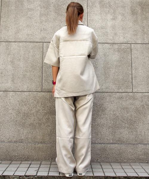 THE MILES(ザ マイルズ)の「360 サンロクマル アシンメトリーウエストデザインワイドパンツ 《セットアップ対応商品》(その他パンツ)」 詳細画像