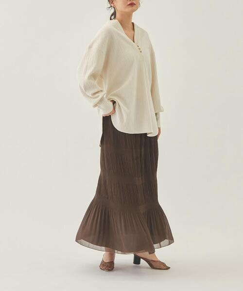 【EMMEL REFINES】【手洗可能】EM HW リバーシブル プリーツスカート
