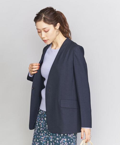 BY 麻ブレンドカラーレスジャケット