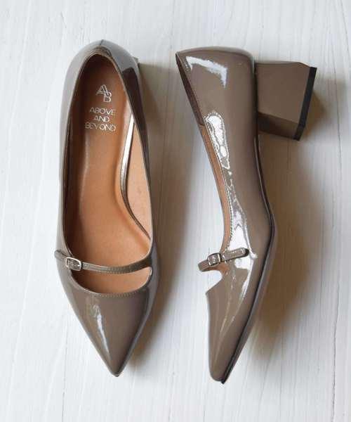 【値下げ】 【セール】【ABOVE AND BEYOND】 BEYOND】 ポインテッドトウワンストラップパンプス (771006)(パンプス) AND|inter-chaussures(インターショシュール)のファッション通販, 川副町:a15b431c --- svarogday.com