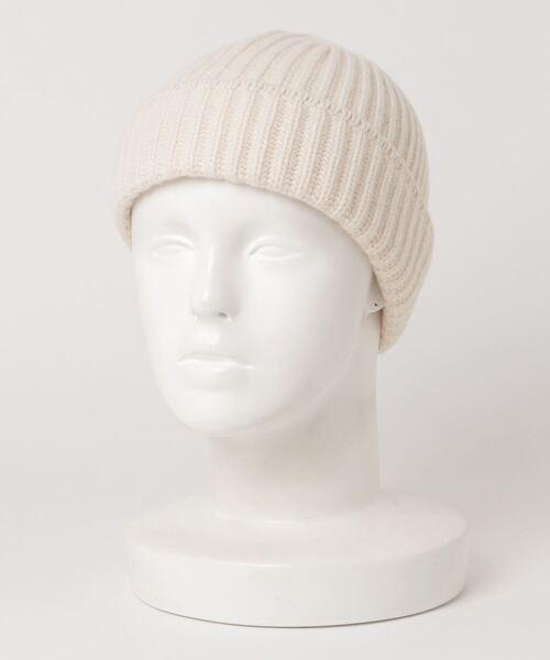 【ReproFarm】カシミヤワイドリブ ニット帽